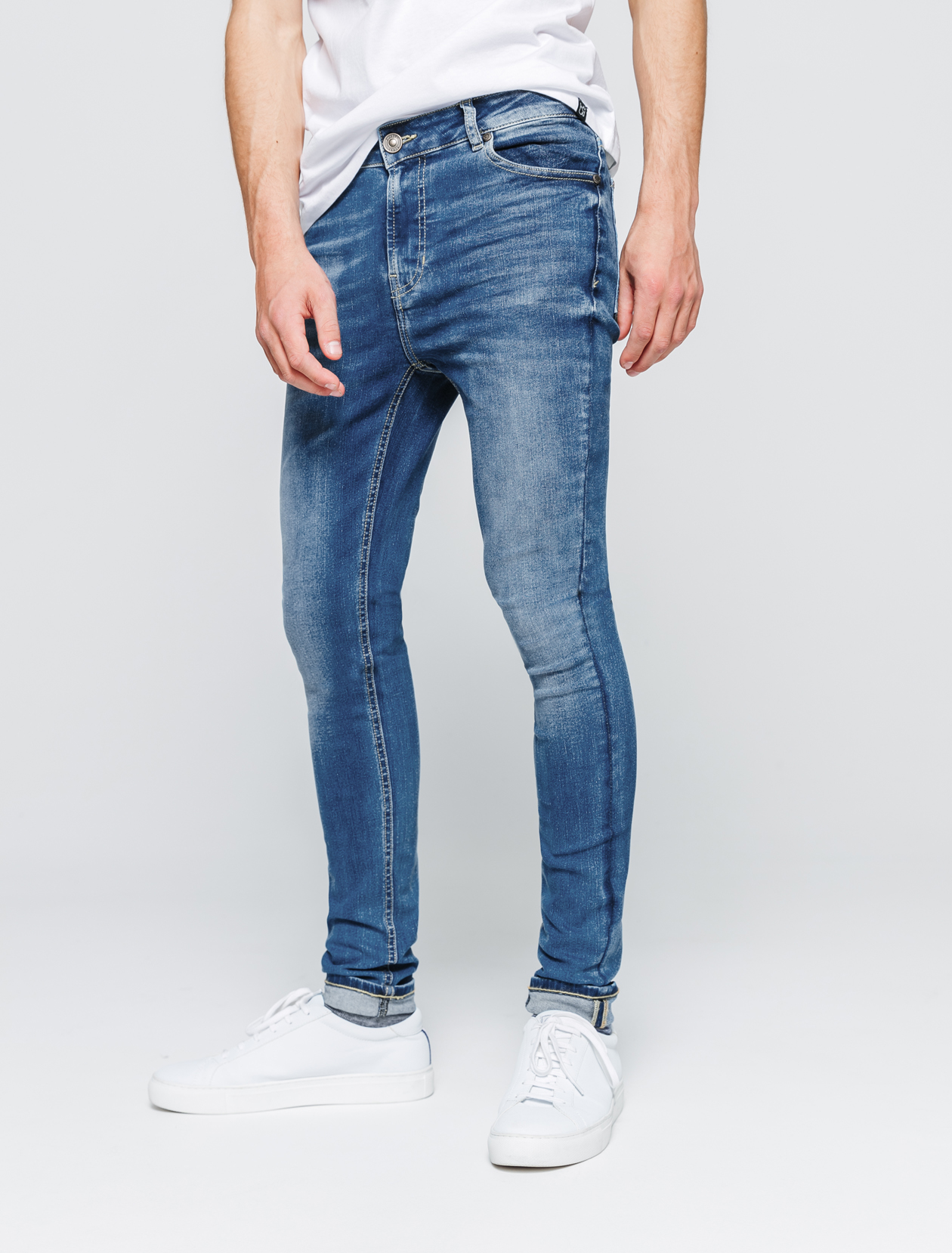 Jean ultra skinny clair homme
