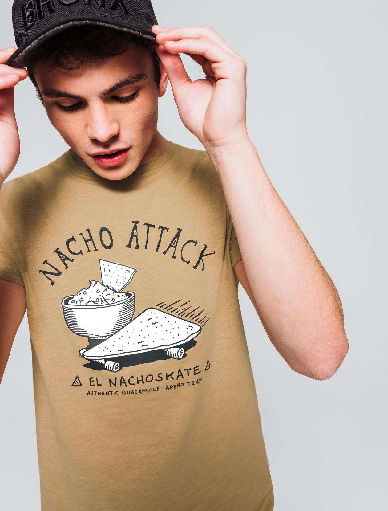 T-shirt humour dessin placé homme